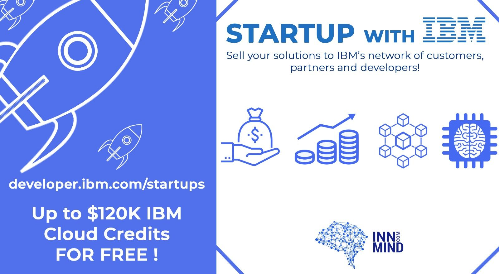 Startup with IBM: InnMind together with IBM grants Free IBM Cloud Credits for tech startups