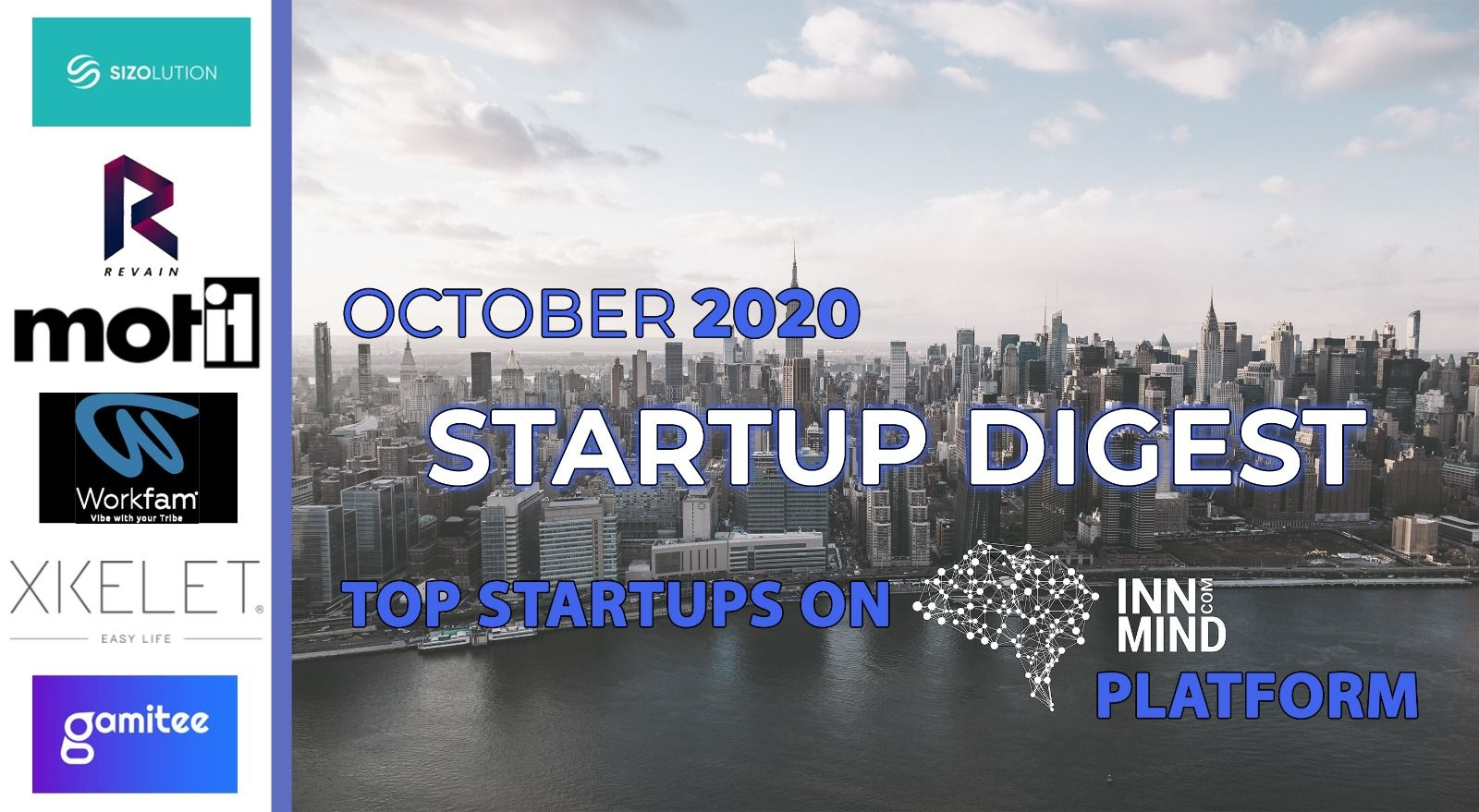 October 2020 Startup Digest: Top Startups on InnMind Platform