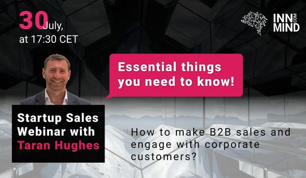 Startup Sales Strategy Webinar:  Essential things you need to know!