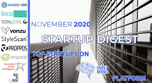 November 2020 Startup Digest: Top Startups on InnMind Platform