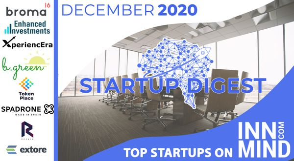 December 2020 Startup Digest: Top Startups on InnMind Platform
