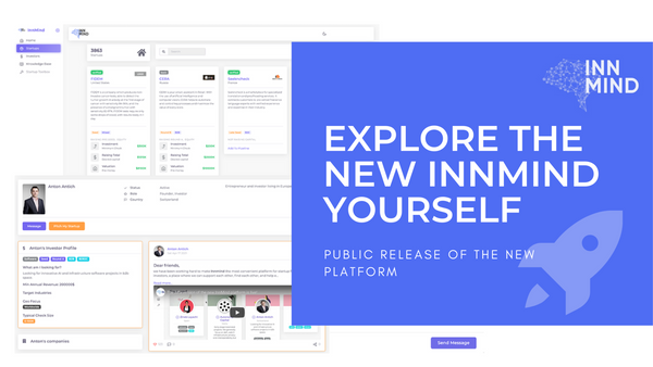 InnMind 2.0 Is Live: the ReNewed Platform for better deal-flow between VCs and startups!